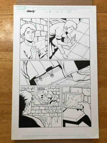 Gravity #4 page 1 original art Mike Norton Jonathan Glapion 2005 Winger fan