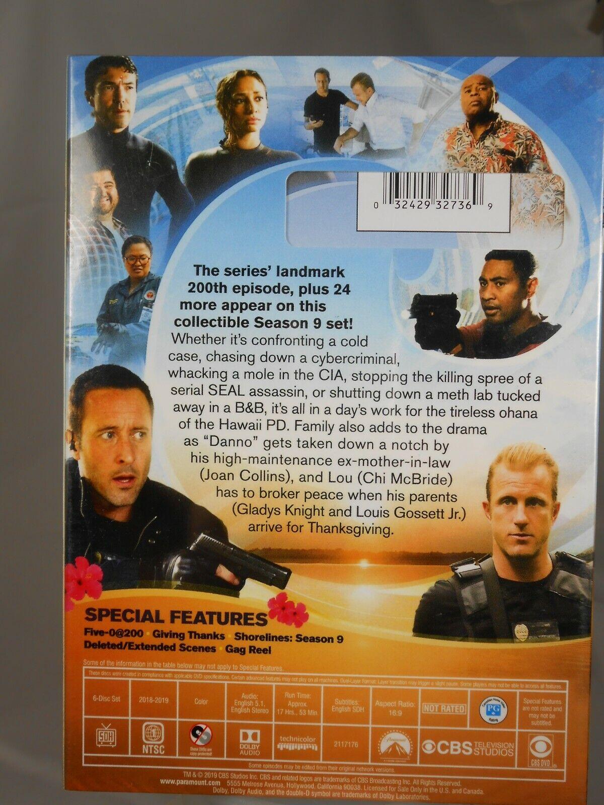 Hawaii Five-O The Ninth Season 9 9TH DVD, 2019, 6-Disc Set New Sealed - $19.95
