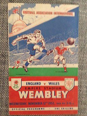 1952 ENGLAND v WALES @ WEMBLEY