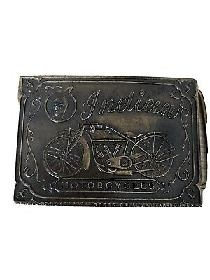 TB01133 VINTAGE 1970s **INDIAN MOTORCYCLES** ADVERTISEMENT BELT BUCKLE