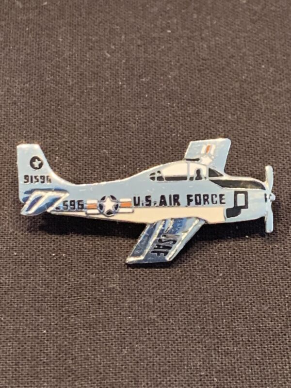Air Force Mustang Fighter Plane Pin 91596 Silver Tone Vintage