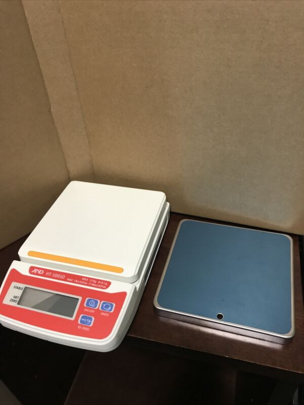 A&D Weighing Ht-500GD Digital Compact Bench Scale 510g W/ Stainless Steel Cover