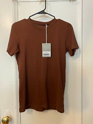 NWT EVERLANE 100% ORGANIC COTTON TEE SIZE S COLOR LIGHT BROWN