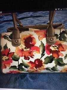 Wilson Leather Floral Purse