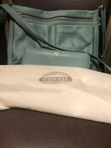 Fossil crossbody bag with matching wallet