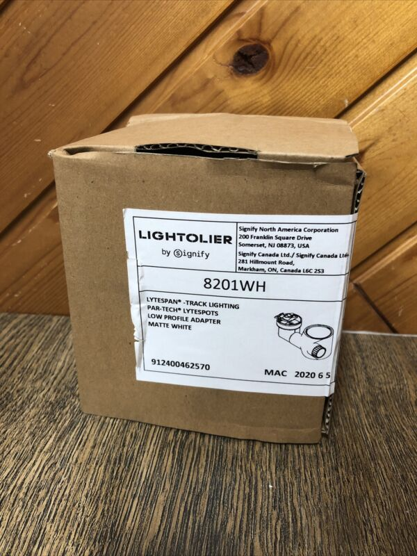 Lightolier 8201WH Low Profile Track Light Matte White Lytespan Track PAR-Tech