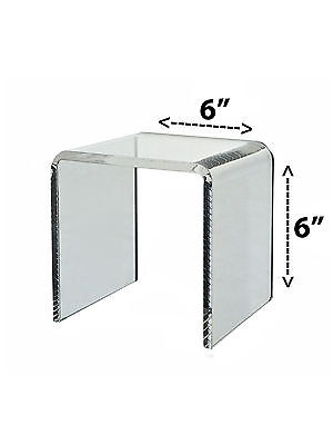 Riser Clear Acrylic Cube Counter Pedestal Jewelry Display Stand 6 X 6