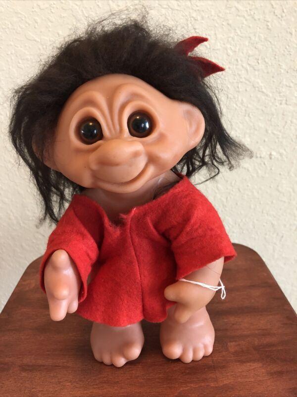 vintage 1977 troll doll Thomas damn made in Denmark # 604