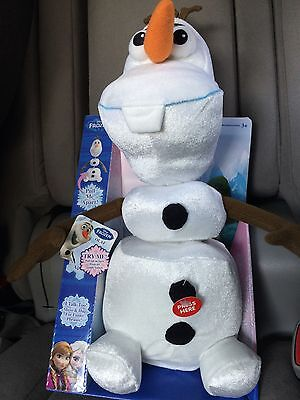 NEW WITHY BOX DISNEY FROZEN TALKING OLAF PULL APART PLUSH-GREAT GIFT FOR ALL AGE (Halloween Movies For Kid)