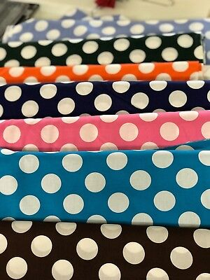 25 Day Care Cot sheets   Assorted large dot print Fabric we pick colors   52x22