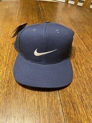 Rare Vintage 90's Navy Nike TW Tiger Woods Golf Hat Fitted Sz. 7 1/2 Back logo
