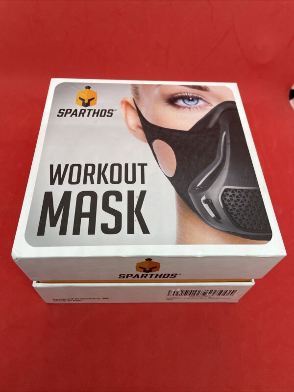Sparthos Workout Mask Black with Case