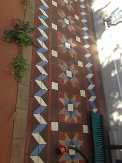 Antique Victorian/Old English Floor Tiles