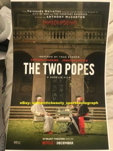 THE TWO POPES ANTHONY HOPKINS JONATHAN PRYCE BENEDICT FRANC SIGNED 12x18 REPRINT