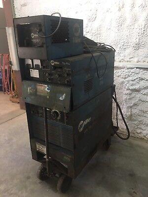 Miller Goldstar 300ss With Tig Rig Dc Welder Radiator-1 Cooling System