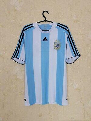 Argentina national team 2007 - 2009 home football shirt jersey Adidas size M image