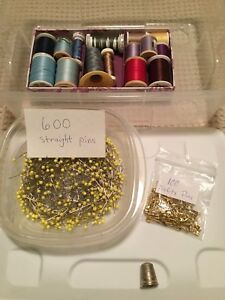 Sewing set  (pins & threads)
