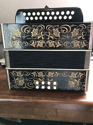 German Diatonic Accordion, Key of G/C, Good Condition, everything works.
