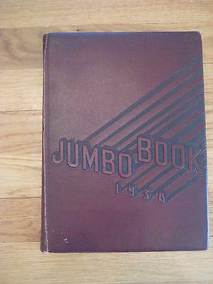 vintage 1938 Tufts University Jumbo Book YEARBOOK Medford MA college old antique
