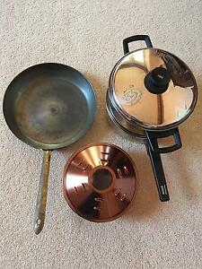 Stainless Steel Steamer, Crock Pot Cake Pan and Copper Pan Beaconsfield Fremantle Area Preview