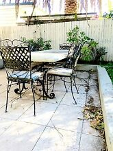 Outdoor concrete dining set with chairs Naremburn Willoughby Area Preview