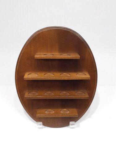 "Vintage Thimble Display wooden plaque oval 10.5"" x 8"" EUC dozen spaces"