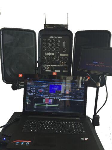 NEW COMPLETE LAPTOP COMPUTER KARAOKE SYSTEM DJ JBL EON 208P SPEAKER SYSTEM