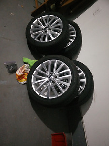 "VW OEM 17"" Wheels and Tires"