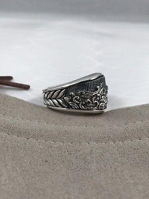 - David Yurman 3 Side Wave Sterling Silver Mens  10.5 Ring