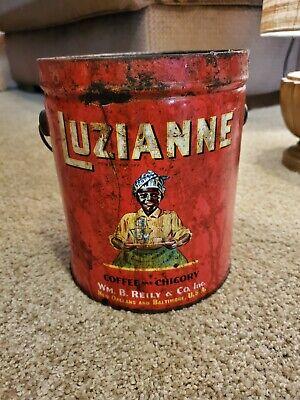 Vintage Luzianne 3 Pound Coffee Tin (No lid)