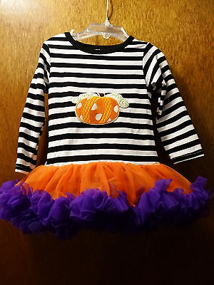Infant Girl Boutique Pumpkin Romper Tutu Dress Halloween Costume Sz Small  (Infant Tutu Halloween Costumes)
