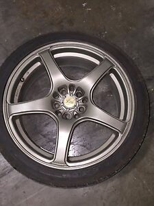 Mags with tires $1200  non negotiable West Island Greater Montréal image 8