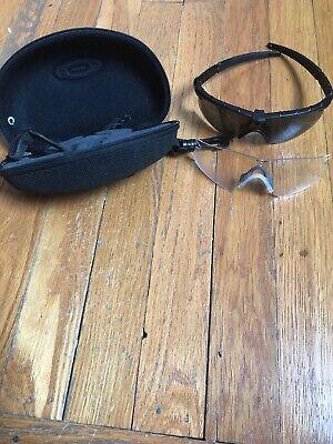 Oakley Wrap-Around  Sunglasses Black  With Case Nose (Oakley Wrap Around Sunglasses)