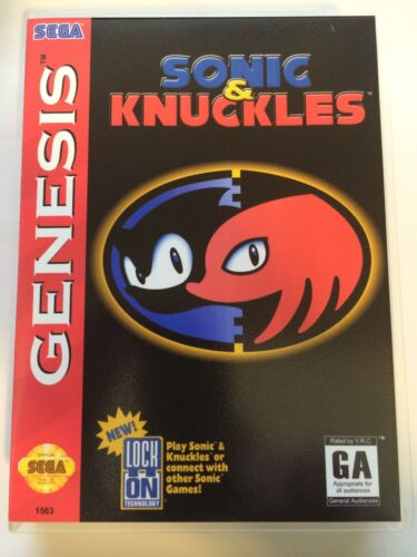 Sonic and Knuckles - Sega Genesis - Replacement Case - No Game