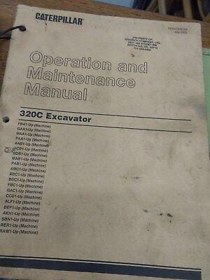 Cat Caterpillar 320c Excavator Operation Maintenance Book Manual Anb Mab Pab