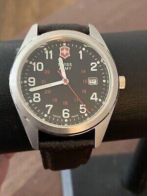 Men's Victorinox Swiss Army Garrison 241083 Quartz Date Wrist Watch Brown