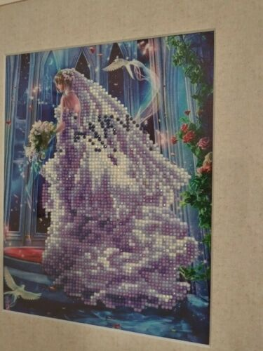 Beautiful Bride Finished Complete Diamond Art In Wooden Frame Matted And Glass. - $45.00