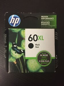 HP 60XL ink cartridge.
