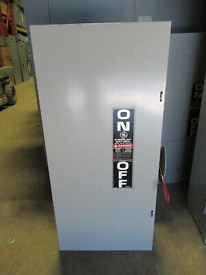 Ge Tg4324 Model 8 200 Amp 240 Volt 3 Phase 4 Wire Fusible Disconnect
