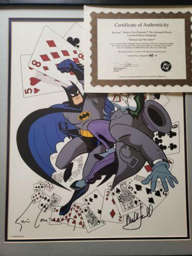 Batman Joker Animated lithograph signed by Mark Hamill & Kevin Conroy