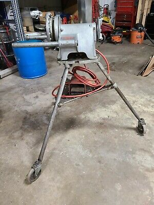 Used Ridgid Industrial 300 T-2 Pipe Reversible Threader Machine W Tripod 115v