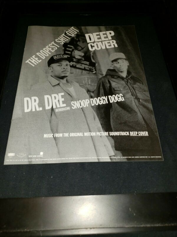 Dr. Dre Snoop Dogg Deep Cover Rare Original Radio Promo Ad Framed!