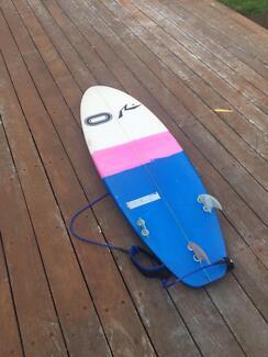 Lightly used Osmosis Rusty 5'5 surfboard