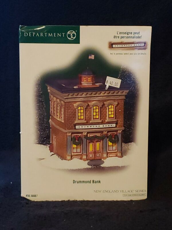 Department 56 DRUMMOND BANK New England Village Series *Benefits Charity