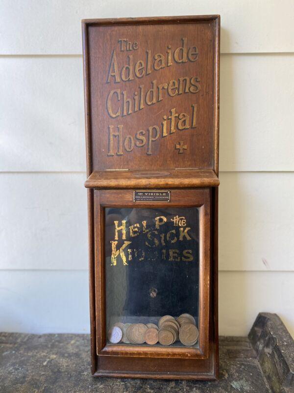 A Fabulous Antique Adelaide Children's Hospital Donation Collection Box c1925