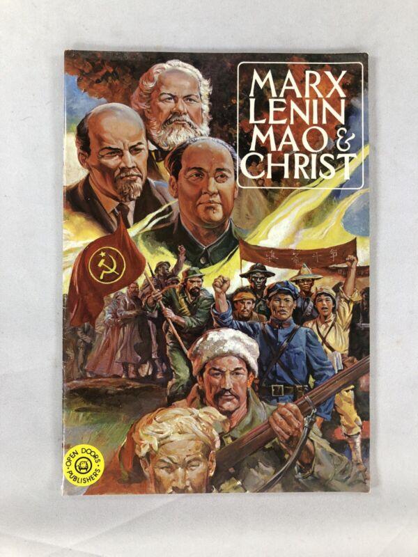 Marx Lenin Mao & Christ 1977 Christian Comic Communism vs Christianity Rare!
