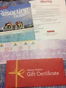 Resorts of Ontario Gift Cards