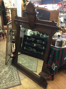 Walnut antique mirror