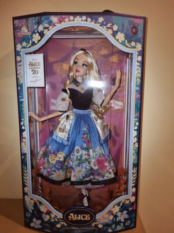 DISNEY STORE UK ALICE IN WONDERLAND MARY BLAIR LIMITED EDITION DOLL FREE POST