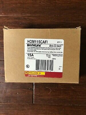 Hom115cafi Square D 15 Amp 120v Combination Arc Fault Circuit Breaker New In Box